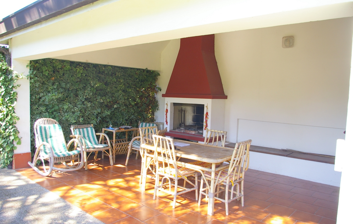 patio con barbecue